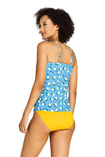 Draper James x Lands' End Women's DD-Cup Keyhole High Neck Tankini Top Swimsuit, Back