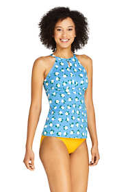 Draper James x Lands' End Women's D-Cup Keyhole High Neck Tankini Top Swimsuit