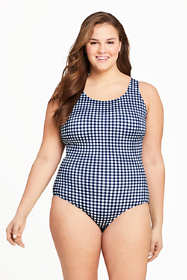Women's Draper James x Lands' End Plus Size Scoop Neck Tugless One Piece Swimsuit