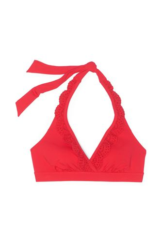 Draper James x Lands' End Women's Ruffle V-neck Halter Bikini Top Swimsuit