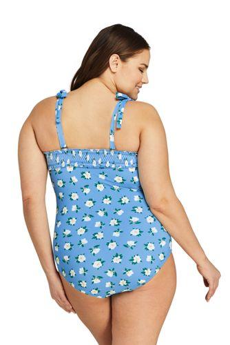 Draper James x Lands' End Women's Plus Size Bandeau One Piece Swimsuit