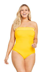 Draper James x Lands' End Women's Plus Size Bandeau One Piece Swimsuit