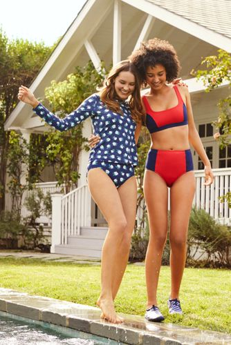 Draper James x Lands' End Women's Retro High Waisted Bikini Bottoms