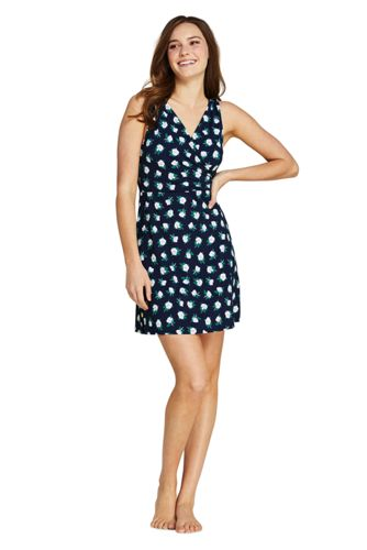 Draper James x Lands' End Control Badekleid in Plus-Größe