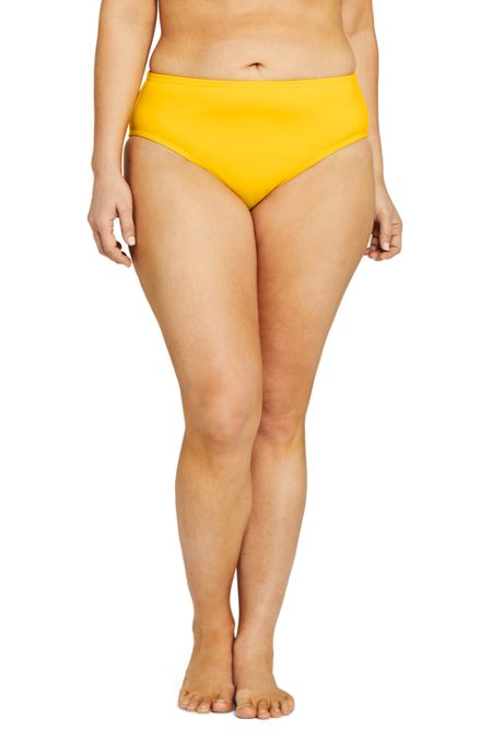 Draper James x Lands' End Women's Plus Size Mid Waist Bikini Bottoms