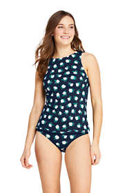 Draper James x Lands' End Women's Petite High Neck Tankini Top Swimsuit with UPF 50