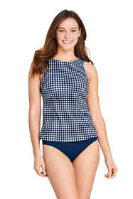 Draper James x Lands' End Women's High Neck Tankini Top Swimsuit with UPF 50
