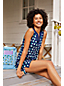 Draper James x Lands' End Baumwoll-Strandkleid für Damen in Plus-Größe