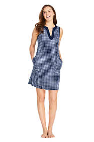 Draper James x Lands' End Women's Cotton Jersey Sleeveless Swim Cover-up Dress