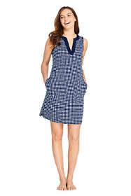 Draper James x Lands' End Women's Petite Cotton Jersey Sleeveless Swim Cover-up Dress