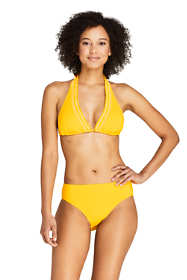 Draper James x Lands' End Women's Smocked V-neck Halter Bikini Top Swimsuit