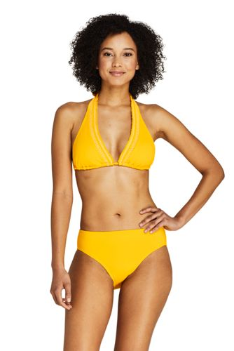 Draper James x Lands' End Neckholder-Bikinitop mit Smok
