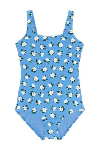 Draper James x Lands' End Women's Long Scoop Neck Tugless One Piece Swimsuit
