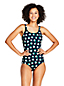Women's Long Torso Draper James x Lands' End Scoop Neck Tugless One Piece Swimsuit