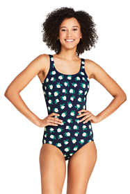 Draper James x Lands' End Women's Petite Scoop Neck Tugless One Piece Swimsuit