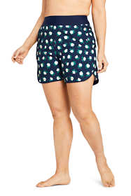 "Draper James x Lands' End Women's Plus Size 5"" Quick Dry Board Shorts Swim Cover-up Shorts"