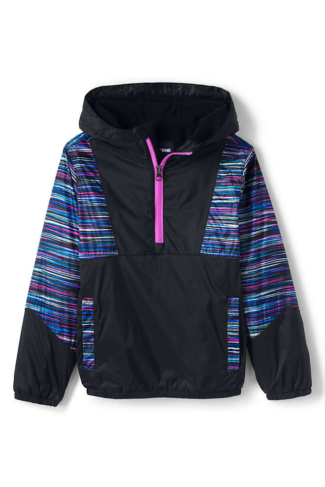 Kids Active Fleece Lined Pullover Jacket, Front