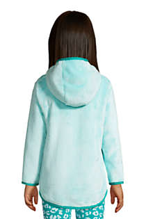 Little Girls Softest Fleece Solid Hoodie, Back