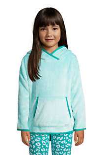 Little Girls Softest Fleece Solid Hoodie, Front
