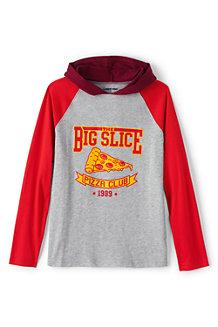 Boys' Hooded Graphic Raglan T-Shirt