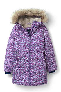 Girls Winter Fleece Lined Down Alternative ThermoPlume Coat | Lands' End