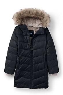 Manteau ThermoPlume Doublé de Polaire avec Capuche, Fille