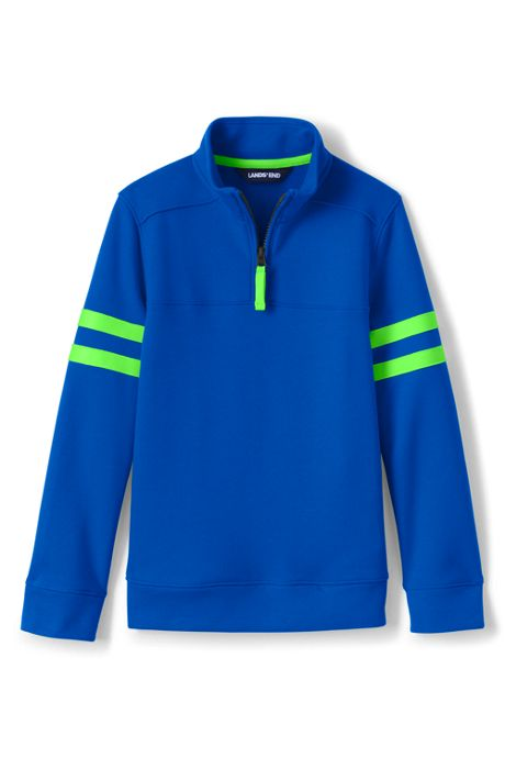 Kids Long Sleeve Solid Quarter Zip
