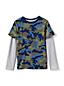 Boys' Long Sleeve Double Layer Slub T-Shirt