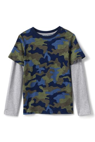 T-Shirt Double Épaisseur en Jersey Flammé, Garçon