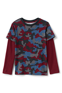 Boys' Long Sleeve Double Layer Slub T-Shirt