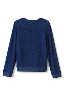 Girls Long Sleeve Soft Brushed Top, Back