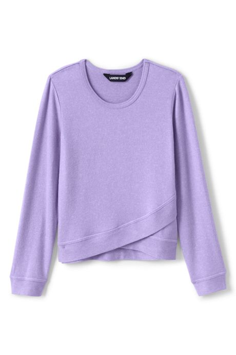Girls Plus Size Long Sleeve Soft Brushed Top