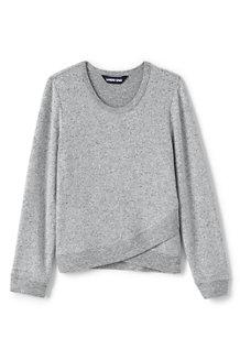 Meliertes Jersey-Shirt mit Saum-Detail für Mädchen