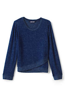 Girls Long Sleeve Soft Brushed Top, Front