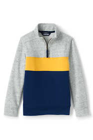 Kids Husky-Plus Long Sleeve Color Block Quarter Zip
