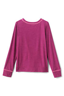 Girls Long Sleeve Twist Front Performance Tee, Back