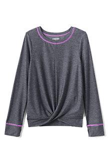 Girls' Long Sleeve Twist Front Performance T-Shirt