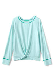 Little Girls Long Sleeve Twist Front Performance Tee
