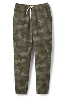 Lands End Boys Iron Knee Pull On Pattern Stretch Woven Jogger