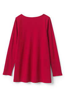 Girls Long Sleeve Yoke Tunic Top, Back