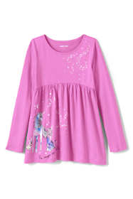 Girls Plus Size Long Sleeve Yoke Tunic Top