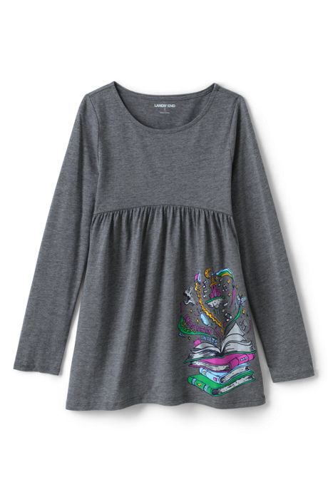 Girls Long Sleeve Yoke Tunic Top