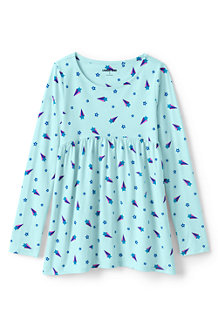 Girls' Long Sleeve Yoke Tunic Top