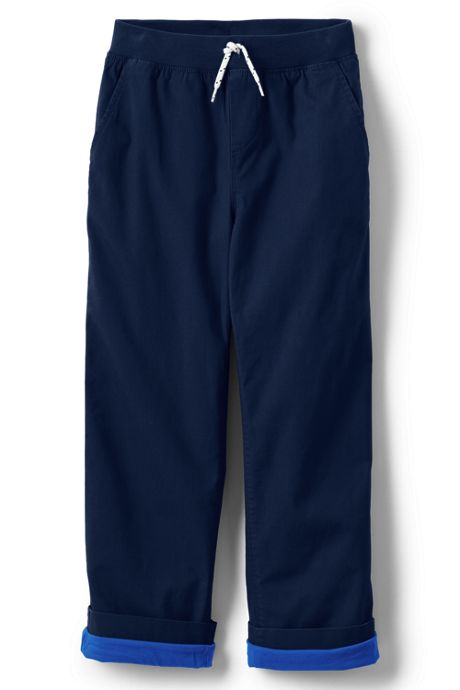 Boys Husky Iron Knee Stretch Lined Rib Waist Pants