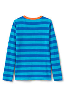 Toddler Boys Long Sleeve Pattern Slub Tee, Back