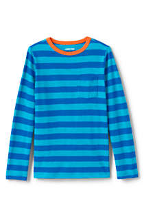 Toddler Boys Long Sleeve Pattern Slub Tee, Front