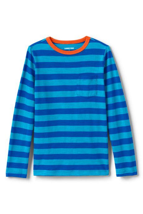 Toddler Boys Long Sleeve Pattern Slub Tee