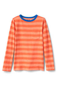 Boys Long Sleeve Pattern Slub Tee