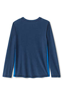 Boys Husky Long Sleeve Performance Tee, Back