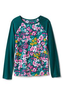 T-Shirt Graphique à Manches Longues Raglan, Fille